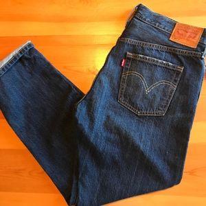 Levi's 501 Distressed Boyfriend Jeans